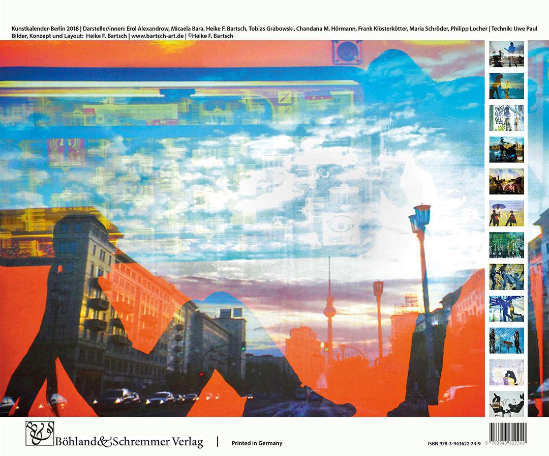 Berlin Kalender 2018 Rückblatt
